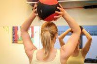Ein Ball über einem Kopf gehoben